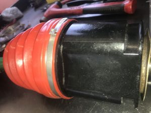 High Angle Boot Installed on Tri-Lobal Type CV Joint