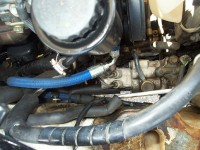 PS hose installed at pump on ABS model