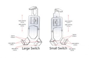 Mob Armor Mount Switch Magnetic Small vs Large