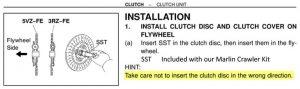 FSM Clutch Install