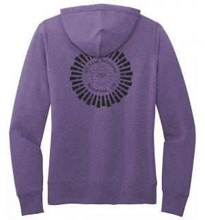 Ladies Fleece Pullover Hoodie - Tire Logo - Back