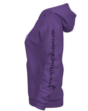 Ladies Fleece Pullover Hoodie - Tire Logo - Sleeve
